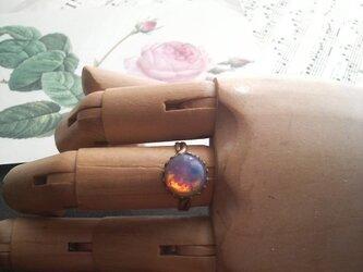 ヴィンテージ ピンクOpal クラシカル指輪(フリーサイズ)の画像