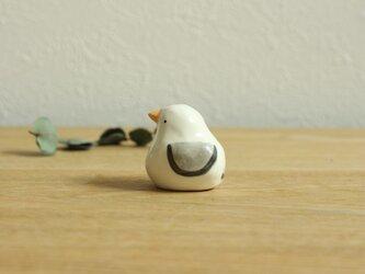 【暦鳥・夏】かもめ(グレー)※受注制作 国産ヒノキの木箱入りの画像