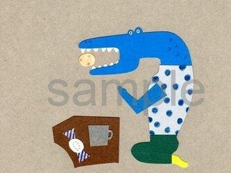 072「スペインのお菓子とやらをいただいて」ポストカード選べる5枚セットの画像