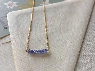 タンザナイトのネックレス| tanzanite necklace(K14GF)の画像