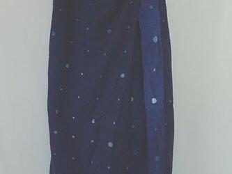 キュロットパンツ藍染水玉の画像