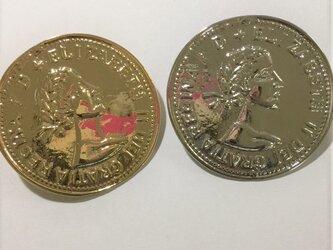 コイン型コンチョの画像