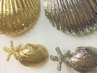 ヒトデ&貝のコンチョの画像