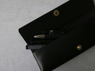 Pen case_bk_S_真鍮ホックの画像