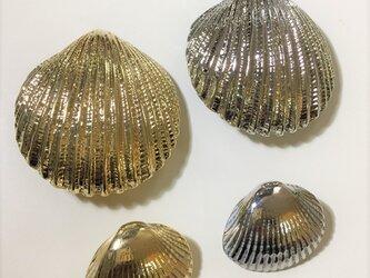丸い貝殻のコンチョの画像