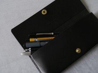 Pen case_bk_M_真鍮ホックの画像