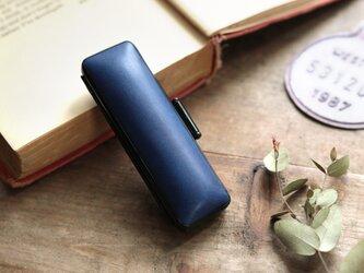 藍染革 13.5mm径印鑑ケースの画像