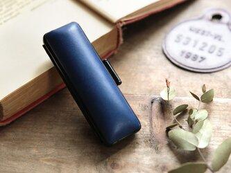 藍染革 18mm径印鑑ケースの画像