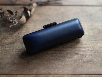 藍染革[migaki] 18mm径 印鑑ケースの画像