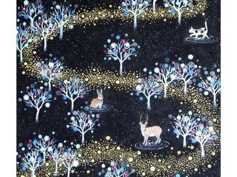 A3サイズ アートプリント「銀河の森」の画像