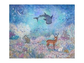 A3サイズ アートプリント「森と海のコンチェルト」の画像