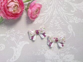 小さなお花柄♡リボンのお箸置き(お箸置き一つのお値段です)の画像