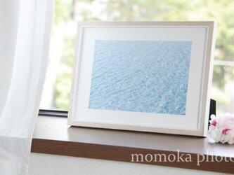 和紙でつづる季節 さざなみブルー 瞑想の前に・・・(額無し)の画像