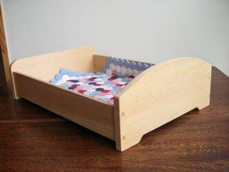 お人形ベッド・・40cmくらいまでのお人形にの画像