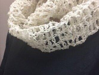 きびそ(生皮苧)手編みスヌード(素材糸 純国産 群馬県産) 最高級A級ランク 1000デニールの画像