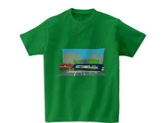 電車Tシャツ-新金線(グリーン)の画像