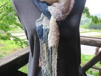 手織り オールシーズンループマフラー Eの画像