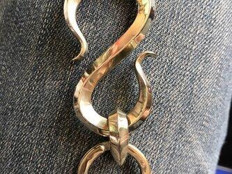 ねじりなし 真鍮製 キーフック (大)の画像