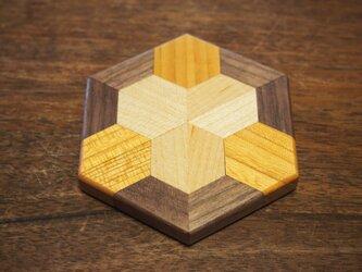 寄木コースターAの画像