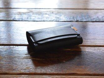[受注生産品]  栃木レザー ロールコインケース(BLACK) MNW-02の画像