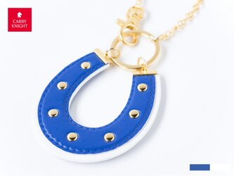 HORSESHOE CHARM 【blue×white】の画像