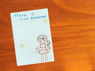 暑中お見舞いカード*summer girlの画像