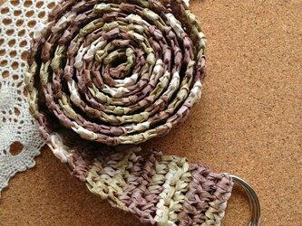 かぎ針編みのベルトの画像