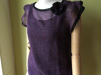 リネンのサマーセーターの画像
