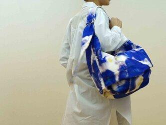 バルーンシリーズ#ハイパーストレッチデニムinkjet print#blueの画像