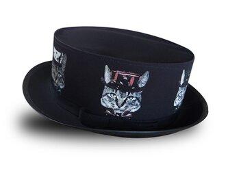 猫かぶらニャいと!モダンハット(黒)の画像