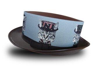 猫かぶらニャいと!モダンハット(ブルーグレー)の画像