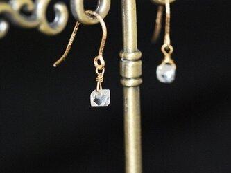 【14kgf】NY産ハーキマーダイヤモンド プチ・ピアスの画像