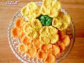 菜の花のコサージュの画像