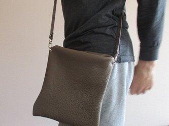 【受注再販】革の袋・2ウェイバッグ・ハードタイプ角型 トリヨン NEW!の画像