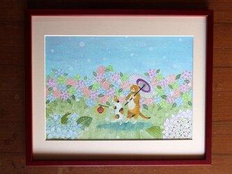 絵画「雨降り小径」の画像