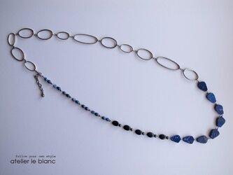 """story of """"blue"""" ~青い石のロングネックレス~の画像"""