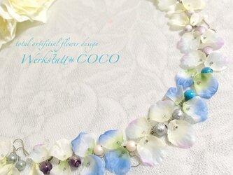 花びらピアス&イヤリング*blueの画像