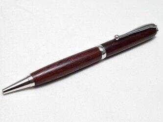 【チンチャン(手違紫檀)】手作り木製ボールペン スリムライン CROSS替芯の画像