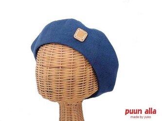 リネンのベレー帽(B)の画像