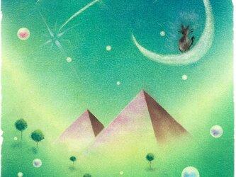 【原画】『やすらぎの夜』(パステルアート)の画像