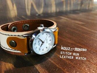 【送料無料】毎日つけていたくなる時計「ステッチラン 腕時計」受注生産(SRW-WBC-BA)の画像