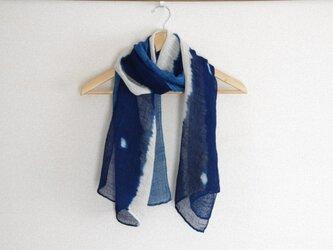 藍染絞りストール*星空ストライプの画像