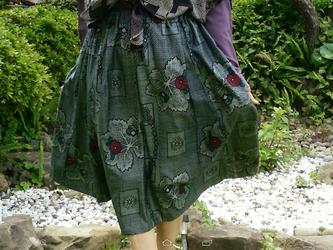 変形フレアースカート   一点品の画像