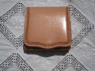 本革(牛革)三つ折り財布(ウォレット)【ハンドメイド】の画像