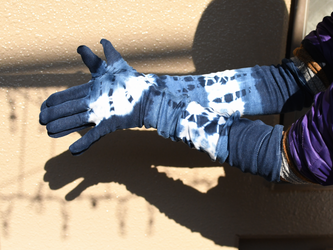 本藍染の長手袋 No.4の画像