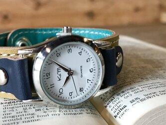 【送料無料】毎日つけていたくなる時計「ステッチラン 腕時計」受注生産(SRW-OTN-WS)Ⅱの画像