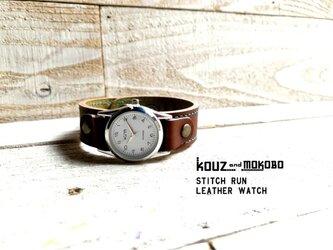 【送料無料】毎日つけていたくなる時計「ステッチラン 腕時計」受注生産(SRW-BOB-TA)の画像