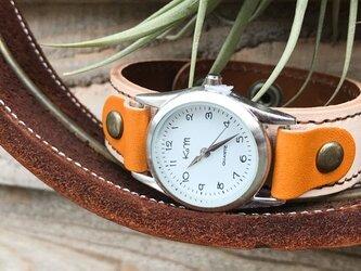 【送料無料】毎日つけていたくなる時計「ステッチラン 腕時計」受注生産(SRW-WBC-BA)Ⅱの画像