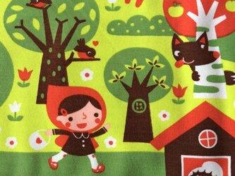 オーガニックコットン ジャージーファブリク カットクロス-赤ずきんの画像