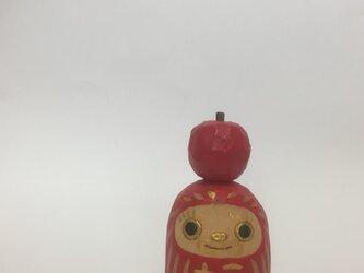 りんごダルマの画像